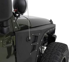"""- Fits 2007 to 2016 Wrangler, Rubicon and Unlimited - 2 and 4-door models - Two stage matte black powder coat finish - 3/16"""" cold rolled steel - Includes inner fender - Stainless steel hardware - Pair The new line of XRC JK front fenders was specifically engineered to provide the protection and clearance needed when you're pushing your rig through the toughest conditions. Each piece of armor is manufactured out of 3/16"""" cold rolled steel and then powder coated in Smittybilt's signature…"""