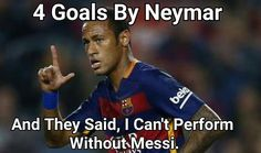 NEYMAR stepping up for Barca!!