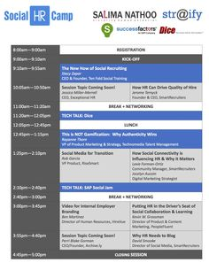 The first version of the #SHRC13 #SanFrancisco agenda is now live! Join us Dec 6th, 2013 at @SmartRecruiters offices for a day of unconferencing: sessions and connections. Register here: http://ow.ly/qKGXp