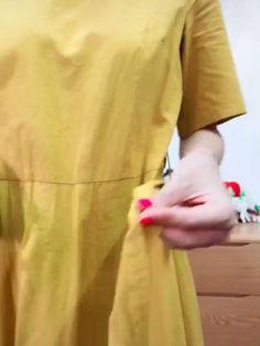 Diy Clothes Life Hacks, Clothing Hacks, Fashion Sewing, Girl Fashion, Fashion Dresses, Diy Belt For Dresses, Scarf Wearing Styles, Diy Fashion Hacks, Fashion Tips