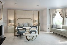 Surrey Family Home, Luxury Interior Design   Laura Hammett   Luxury Bedroom Decor