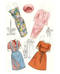 Youth Modern Printable cutout paper doll sheet fashions 3