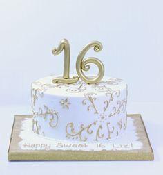 Sweet 16 Cakes | Patisserie Tillemont | Montreal - 1-tier Gold