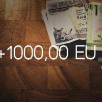 1000 € im Monat online