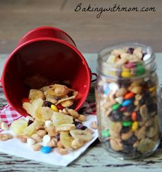Homemade trail mix is a healthy snack for the active family. Great for sports and school, this mix will be perfect for your family.