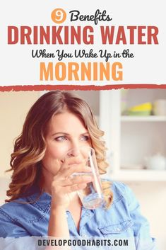Drinking water when you wake up will offer you a lot of healthy benefits and offers some unique rewards. Benefits Of Drinking Water, Water Benefits, Wellness Activities, Wellness Tips, Best Water Filter, Water In The Morning, You Wake Up, Womens Wellness, Good Habits