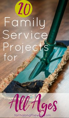 Teach your kids to give back and serve others with these easy service projects.  Here's ideas that even the youngest children can help with.