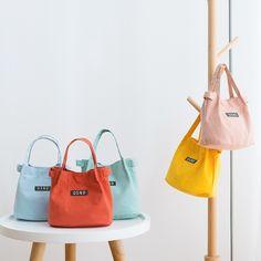 New Trendy Canvas Shoulder Bag Bucket Bag Bento Bag – Mollyca