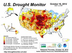 Winter Wheat Crop Now Feeling Impact of U.S. Drought - During the past week, drought conditions have improved slightly across the U.S., but the majority of the lower 48 states continue to suffer from what is proving to be a widespread and pernicious drought event, according to the latest U.S. Drought Monitor statistics, released on Thursday. The drought put a major dent in the U.S. corn and soybean crop, and now it is delaying the emergence of winter wheat