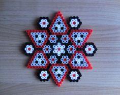 Halloween ornament Halloween Mandala Hama Beads pixel by TCAshop