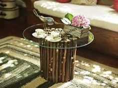 Resultado de imagen para centros de mesa con troncos de parras