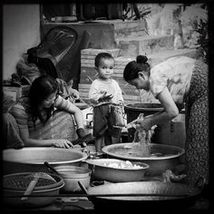 """""""Family prepares food / lunch somewhere on an island in south #laos"""" Photo taken by @actuallymt on Instagram, pinned via the InstaPin iOS App! http://www.instapinapp.com (11/25/2014)"""