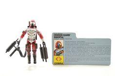 Vintage GI Joe Cobra 1991 Crimson Guard Immortal 100% Complete w/ File Card #Hasbro