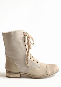 Tawny Combat Boots in Beige - $69.00 : ThreadSence.com, Free-spirited fashion for the indie-inspired lifestyle