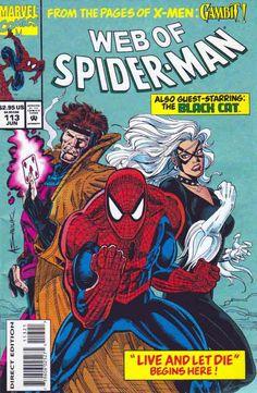 Web of Spider-Man #113 Jun '94 Metallic Green Ink Cover Alex Saviuk Art With 'Work in Progress' and Animated Print.