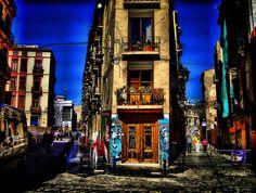 The lively neighbourhood, El Carmen.