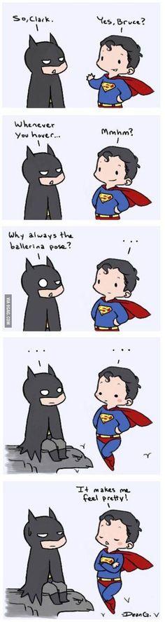 Superman being pretty