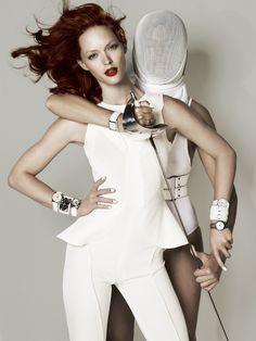Fencing Fashion - Harper's Bazaar UK Photo Spread. June 7, 2011