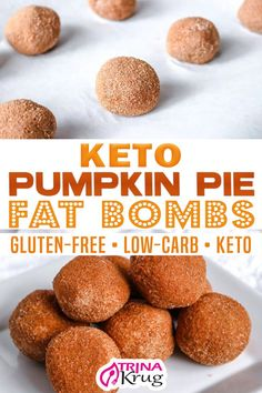 If you don't have time to make a full keto pumpkin pie, then these keto pumpkin pie fat bombs are the perfect solution to your pumpkin needs! I have always made my own pumpkin pie from scratch. It has gone through some transitions over the years, however. This is the perfect Keto Bite-sized Pumpkin Pie Fat Bomb! | Trina Krug @trinakrug #ketopumpkinpie #ketofatbombs #ketosnacks #easyketopumpkinpie #ketocomfortfood #bestketopumpkinpie #trinakrug