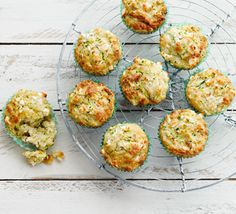 Courgette and feta muffins