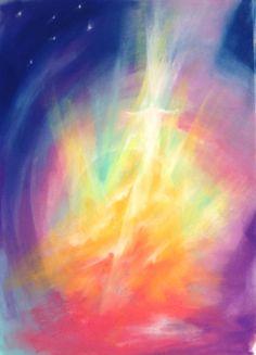 Angels in pastel colors. Jesus Pictures, Art Pictures, Spiritual Paintings, Prophetic Art, Angel Art, Science Art, Light Art, Art Google, Watercolor Paintings