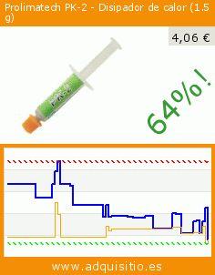 Prolimatech PK-2 - Disipador de calor (1.5 g) (Ordenadores personales). Baja 64%! Precio actual 4,06 €, el precio anterior fue de 11,32 €. http://www.adquisitio.es/prolimatech/pk-2-disipador-calor-15-g