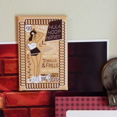 Look at this Fancy Schmancy Burlesque Hooper Magnet by Hooppretty on Etsy! $4.00