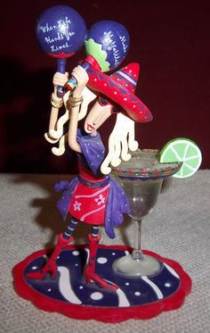 Collectible Dolly Mama's When Life Hands You Limes...Make Margaritas Figurine