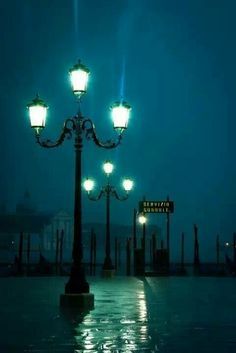 Venice, Italy. I like how the lamps look like people.