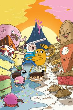 """Props to awesome comedian Paul F. Tompkins for the inspiration with this bit (I prefer pie)."" -- Mike Holmes on his cover for Adventure Time Mike Holmes, Marceline, Cartoon Network, Pendleton Ward, Land Of Ooo, Finn The Human, Jake The Dogs, Bubbline, Princess Bubblegum"