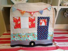 Caravan Hot Pad Apron or Mixer Cover Travel Trailer by PhoebeMade