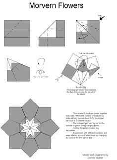 Origami Morvern flower