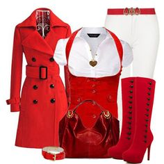 Red Outfit -swap the white jeans for black or navy instead though Look Fashion, Winter Fashion, Fashion Outfits, Womens Fashion, Fashion Ideas, Classy Fashion, Red Fashion, Fashion Clothes, Fashion Design