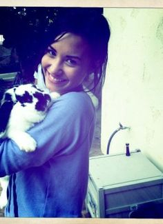 #Demi #Lovato #Rabbit #Cute #Lovatic #Forever