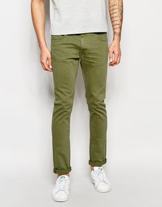 Lee Jeans Luke Skinny Fit Stretch Green Dyed