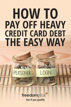 Pay off your credit card debt with a personal loan. You could save thousands on your interest with lower, fixed monthly payments that fit your budget. Fixed rate APR as low as 4.99% (terms apply). Start by answering a few questions to see if you qualify.
