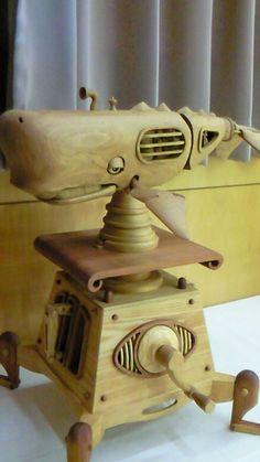 カラクリ細工 - 道楽日記 Dremel, Furniture Projects, Wood Projects, Wood Crafts, Diy And Crafts, Intarsia Wood, Marionette, Kinetic Art, Simple Machines