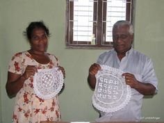 Managers of the lace making center in Weligama, Sri Lanka
