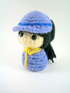 I'm starting to experiment with different hairstyles for my amigurumi dolls. This is challenging since I can't even style my own hair, bu...
