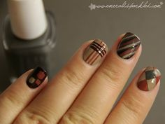 Autumn Colors Inspired Nail Art by EmeraldSparkled.com