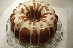 SOUR CREAM COFFEE CAKE WITH WALNUT CINNAMON STREUSEL AND MAPLE GLAZE.  PERFECT FOR BREAKFAST, BRUNCH, TEA, OR DESSERT.  YUM!