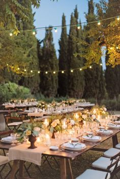 Romantic Reception in Italian Countryside | photography by http://rochellecheever.com