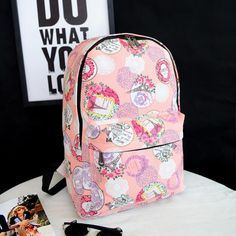 Fashion Canvas Backpack for Ladies. Kids BackpacksSchool BackpacksCanvas  BackpacksTravel ... 5503b68704c47