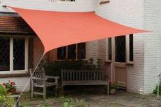 "Amazon.com: Kookaburra Waterproof Sun Sail Shade - Terracotta - 9ft 10"" Square: Patio, Lawn & Garden"