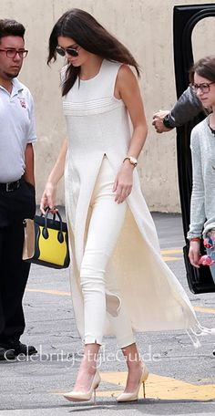 The Ultimate Cool-Girl Way to Wear A Woven Silk Tunic, Courtesy of Kendall Jenner