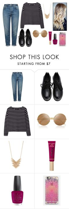 """""""Sans titre #30"""" by disappear-smile ❤ liked on Polyvore featuring Topshop, MANGO, Victoria Beckham, Forever 21, Primp, OPI and Casetify"""
