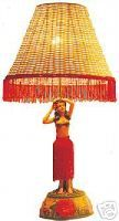 hula girl lamp. super kitsch ! on ebay, found through thetikibarshop.com. i wish i could have this...