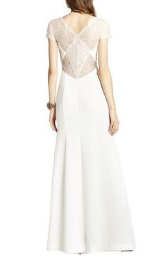 Julia Fitted Lace-Back Gown | BCBG