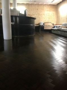 The herringbone pattern stained very dark is a striking but little used finish. Hardwood Floors, Flooring, Herringbone Pattern, Restoration, Texture, Dark, Wood Floor Tiles, Surface Finish, Wood Flooring