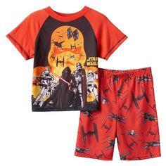 Boys 4-10 Star Wars: Episode VII The Force Awakens Skies of Fire Pajama Set, Boy's, Size: